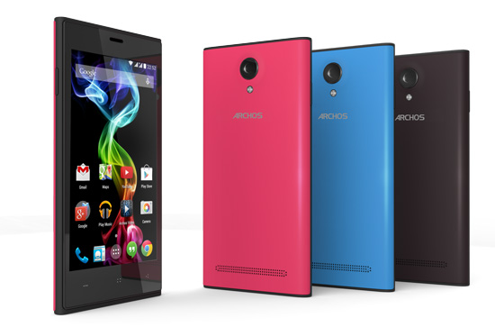 Archos 45c Platinum colors