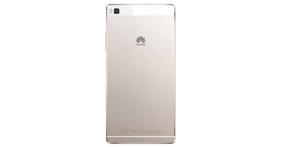 Huawei P8 mobile back gold