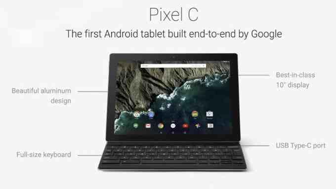 التابلت الجديد من شركة جوجل Google Pixel C