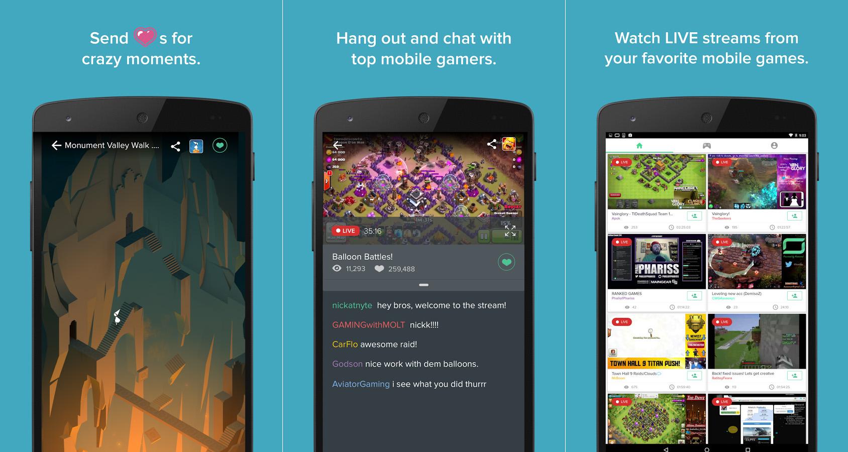 تطبيق Kamcord app