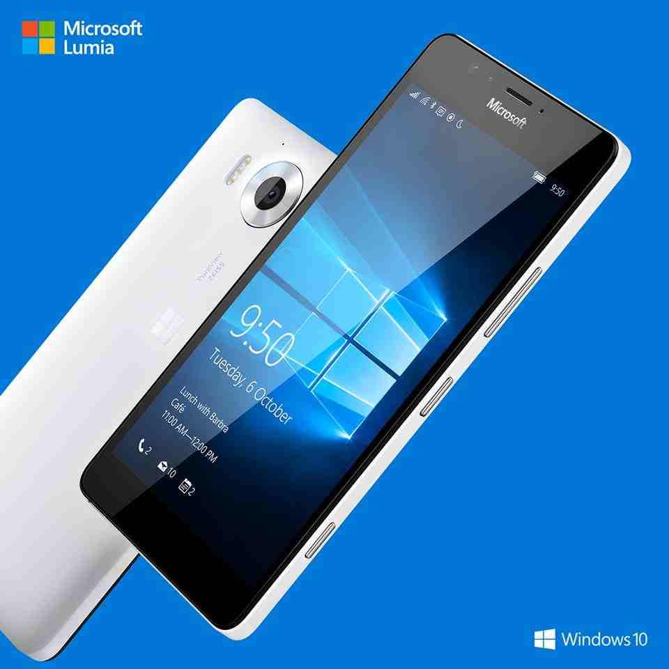 الهاتف الذكي الجديد من شركة مايكروسوفت لوميا 950 Lumia