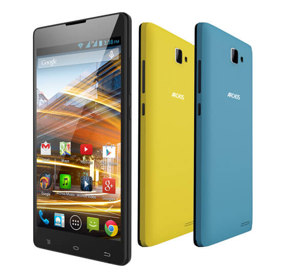 Archos 50 Neon colors