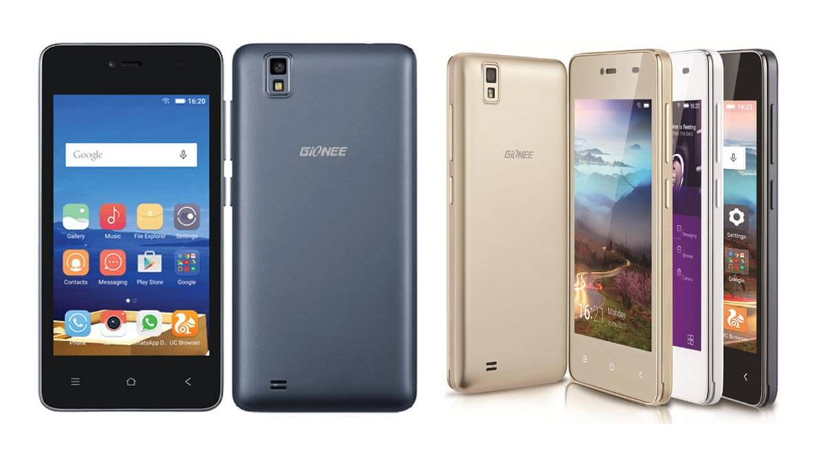 Gionee Pioneer P2M colors