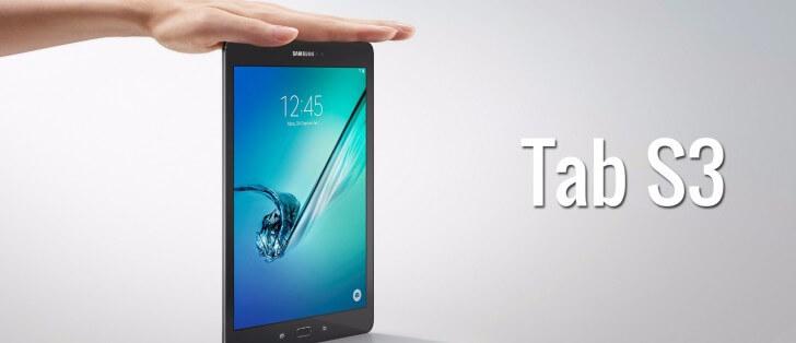 تابلت Samsung Galaxy Tab S3 بذاكرة عشوائية 4 جيجابايت رام