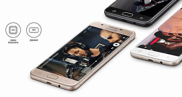 تصميم الهاتف Samsung Galaxy J7 2017