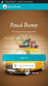 واجهة تطبيق Road Bump | بوابة الموبايلات