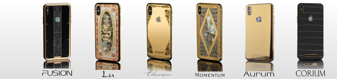 شركة Legend تكشف عن سلسلة هواتف iPhone X الذهبية والمرصعة بالماس