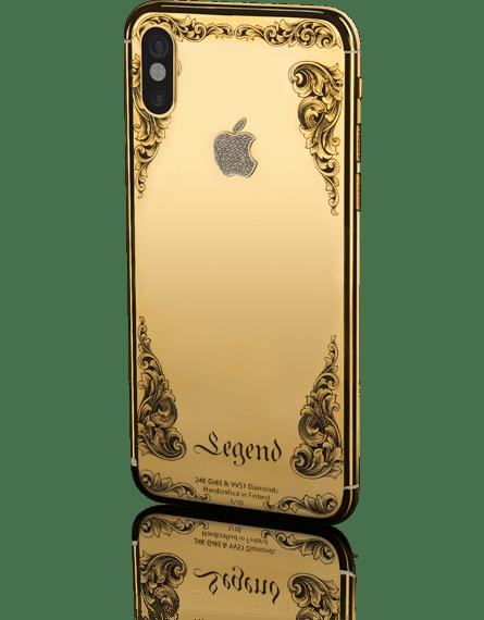 نتيجة بحث الصور عن أيفون X مصنوعة من الذهب