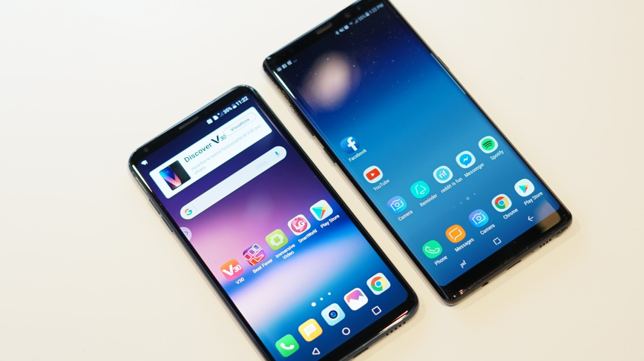 Samsung Galaxy Note 8 vs LG V30