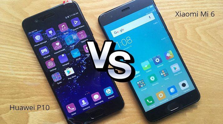مقارنة بين هاتفي Huawei P10 وXiaomi Mi 6