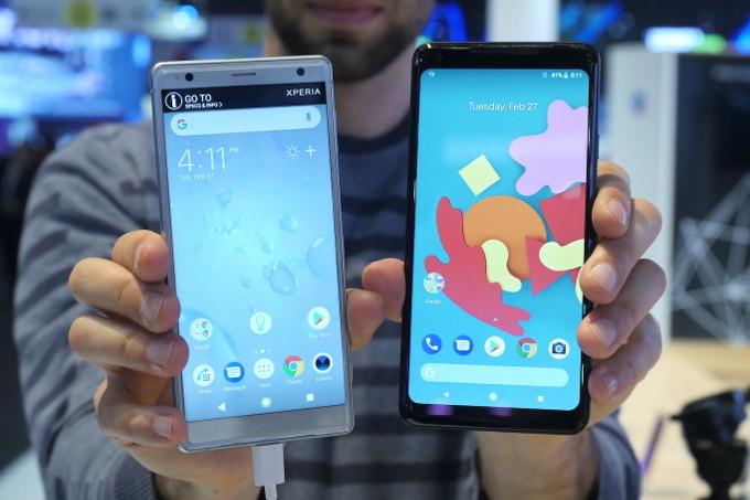 مقارنة بين هاتفي Sony Xperia XZ2 وGoogle Pixel 2 XL