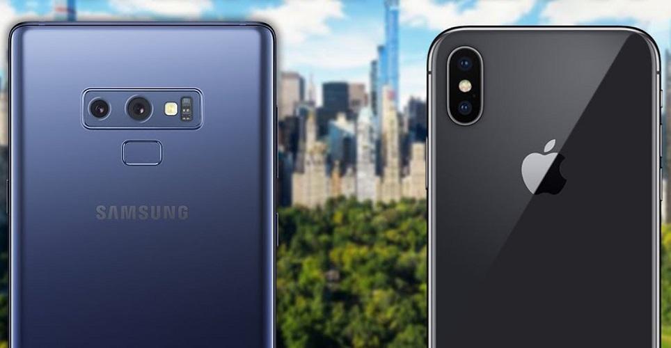 صراع الأفضل: هاتف Samsung Galaxy Note 9 أم iPhone X