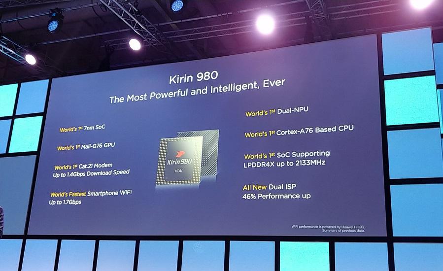 تعرف على معالج Huawei الجديد Kirin 980 ... أول معالج 7 نانوميتر ووحدتين للذكاء الاصطناعي