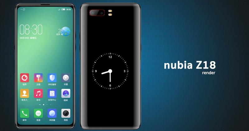 أحدث تسريبات هاتف Nubia Z18S المنتظر من ZTE والقادم بشاشتين