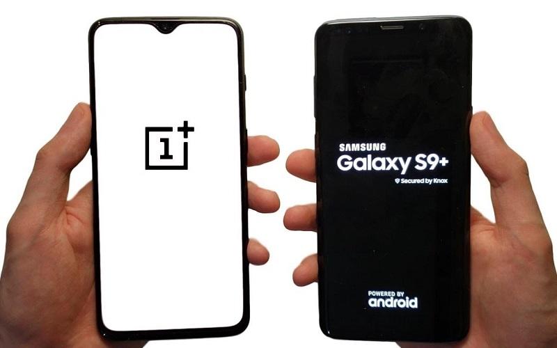 مقارنة الكبار ... مقارنة بين هاتف Samsung Galaxy S9 Plus وهاتف OnePlus 6T