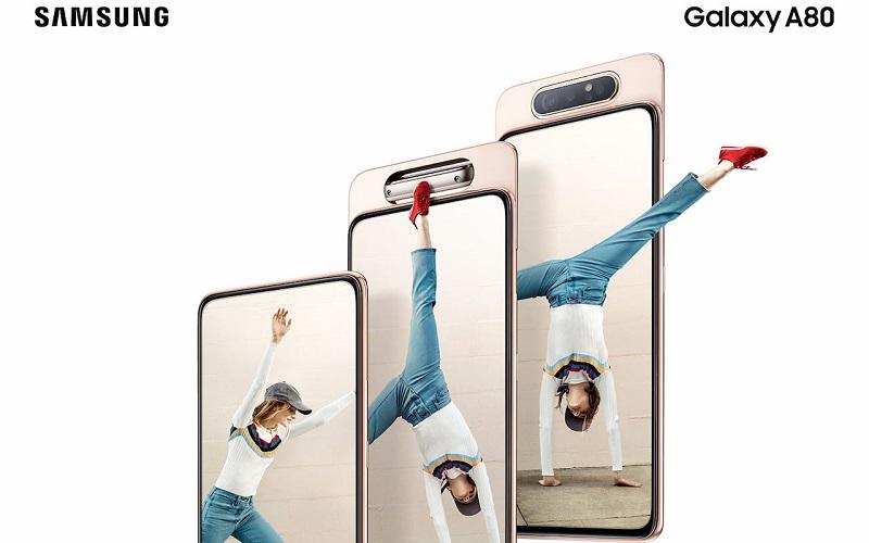 نظرة على مواصفات هاتف Samsung Galaxy A80 الجديد ذو الكاميرا الدوارة