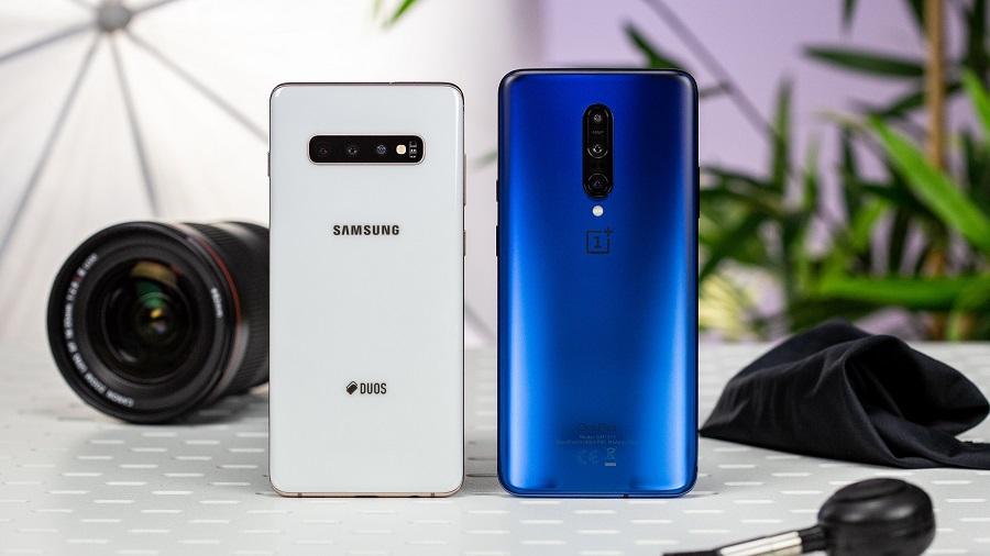 المقارنة الكاملة بين العملاقين هاتف OnePlus 7 Pro وهاتف Samsung Galaxy S10 Plus