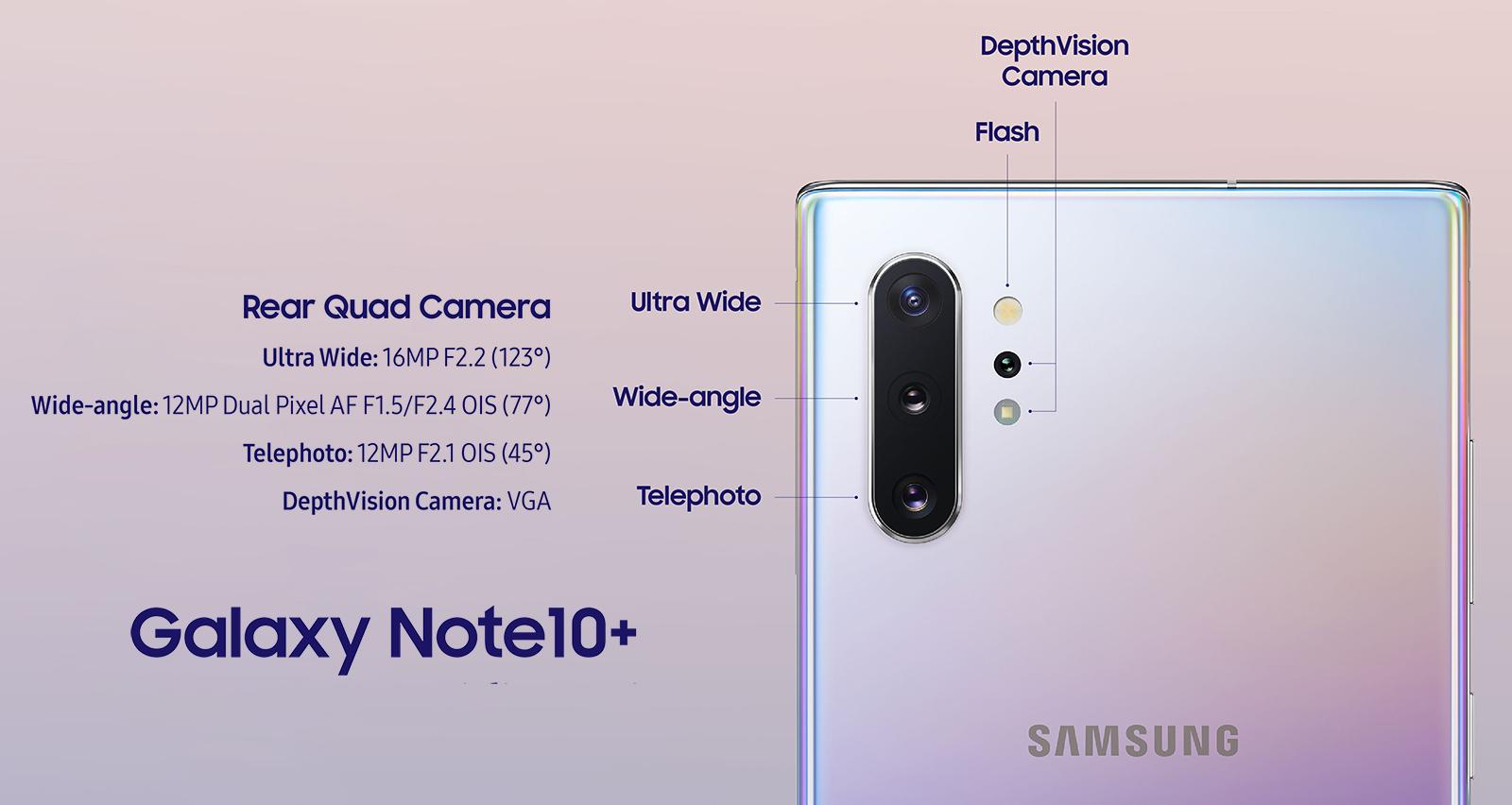 هاتف Samsung Galaxy Note 10 Plus يعتلي قمة أفضل الكاميرات الأمامية والخلفية