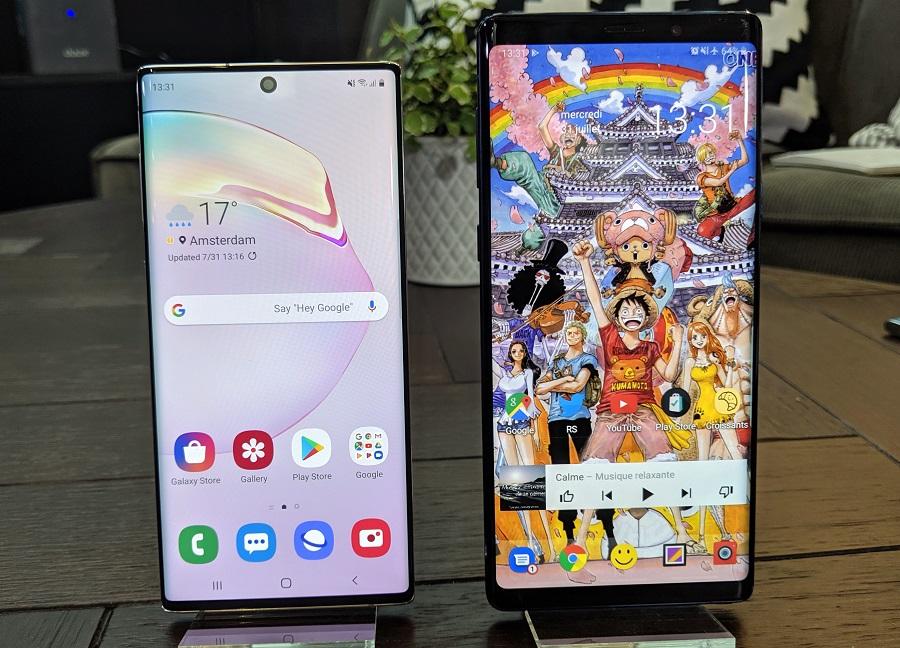 ماذا تغير في Samsung Galaxy Note 10 عن Samsung Galaxy Note 9