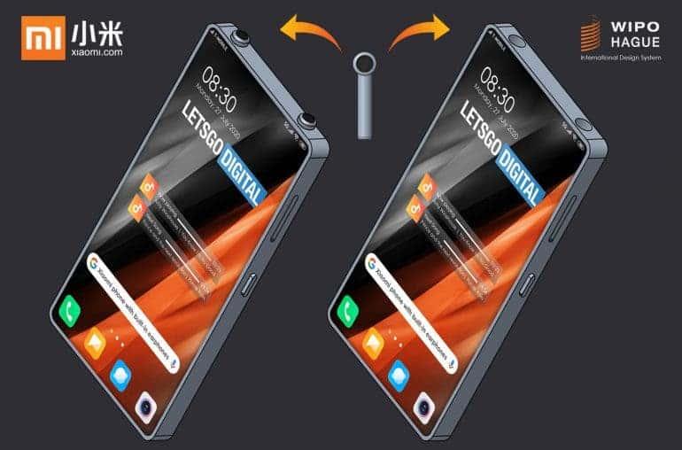 شاومي تسجل براءة إختراع في تصميم هاتف بسماعة لاسلكية مدمجة