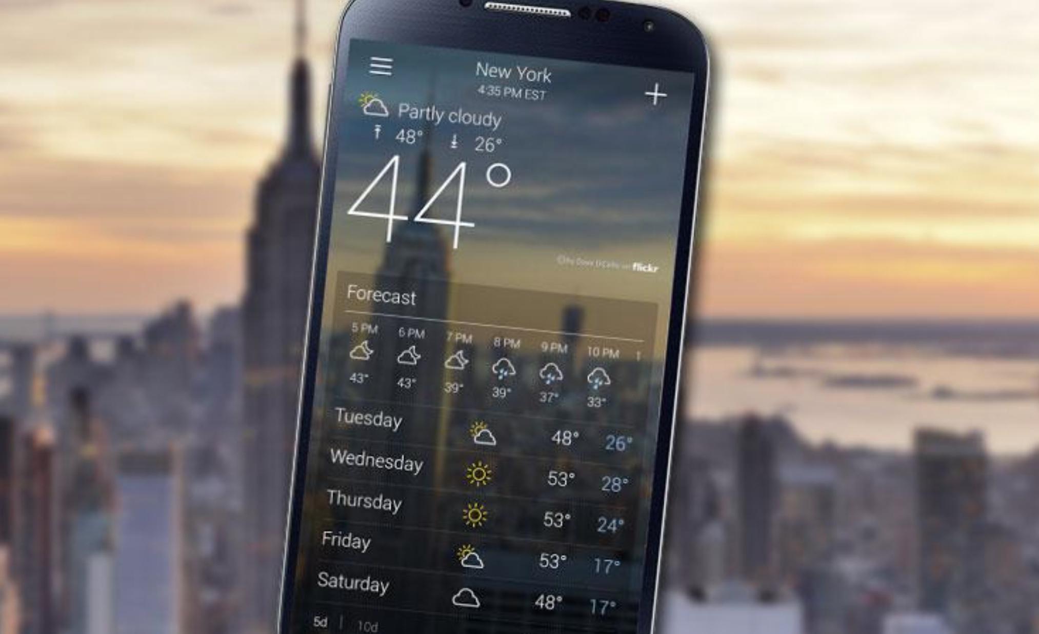 أفضل تطبيقات الطقس لتجنب التقلبات الجوية