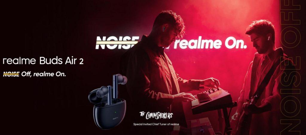 صورة ريلمي تعلن عن سماعة Realme Buds Air 2 المقاومة للضجيج مع هاتفي Narzo جديدين