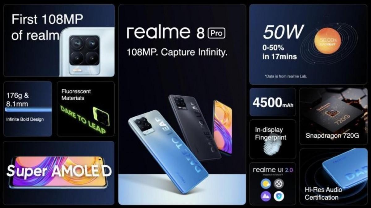 مقارنة هاتفي Realme 8 Pro و Realme 7 Pro .. ما الذي تطور في هذه السلسة؟